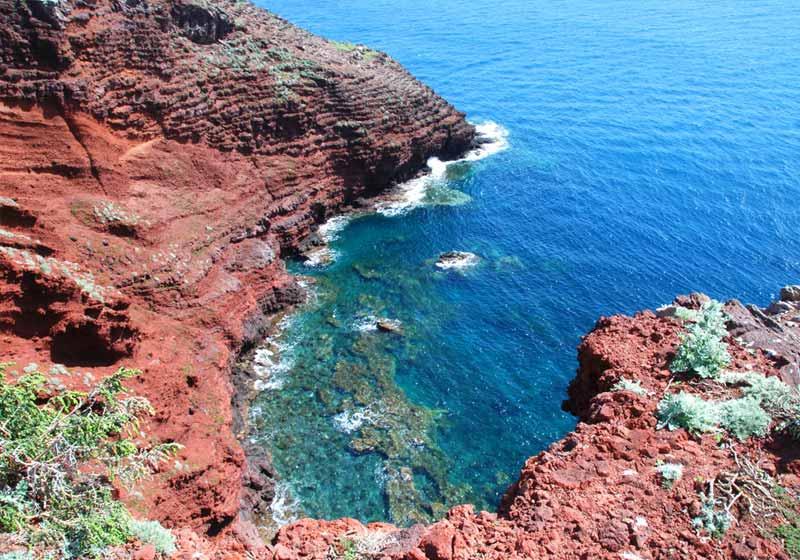 Cala Rossa dell'isola di Capraia